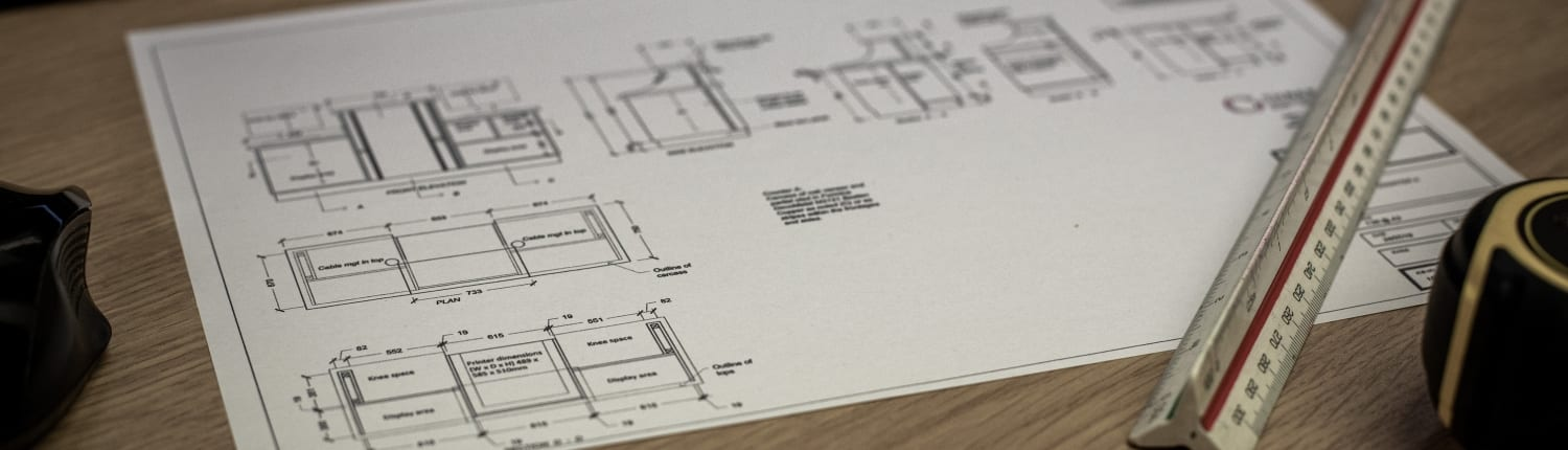 Printed CAD work at a Joinery